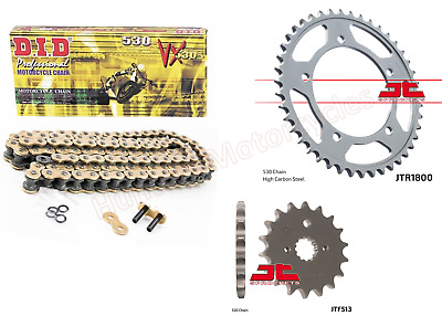 Suzuki GSF1250 Bandit 2008 Model DID Gold X-Ring Chain & JT Sprockets Kit Set