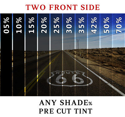 PreCut Film Front Two Door Windows COMPUTER CUT Any Shade % for All Honda Civic