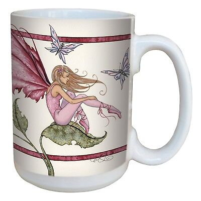 Tree-Free Greetings lm43588 Fantasy Pink Fairy Ceramic Mug with Full Sized Ha...