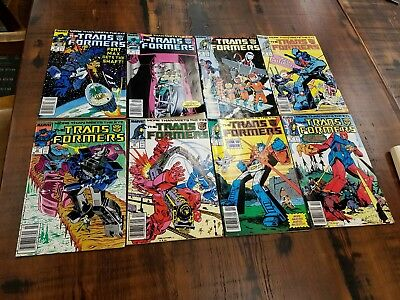 transformers marvel comics lot of 15 from 1985 era.