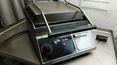 Star Pro-Max Stainless Steel Commercial Single Panini Press Grill R258 - Working