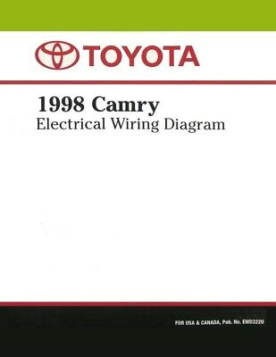 1998 Toyota Tacoma Wiring Diagrams Schematics Layout Factory Oem 29 25 Picclick Uk