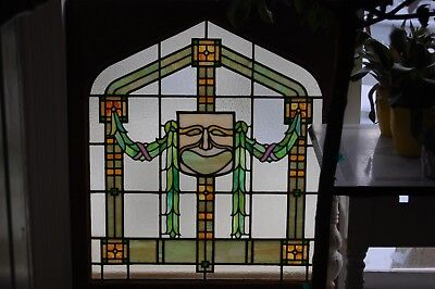 "Antique - Greek ""Comedy"" Mask - Theater - Stained Glass Window"