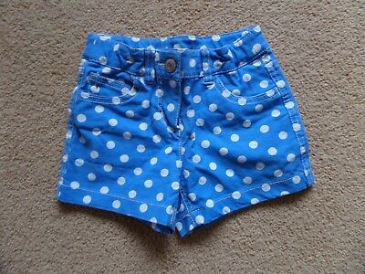 BEAUTIFUL Girl's MINI BODEN Shorts Age 5 Heart Pocket Blue VGC