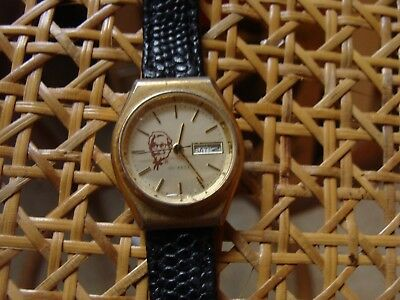 Vintage SELCO Wristwatch KENTUCKY FRIED CHICKEN COLONEL SANDERS promo advertise