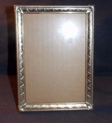 Nice Vintage Detailed Ornate 3D Raised Gold/brass/metal 5 X 7 Picture Frame!