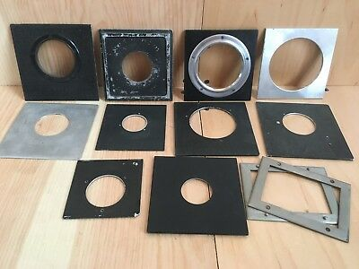 HUGE LOT (11) Lens Boards, Dagor, Sterling, Newton, Copal 0, Metal and Wooden