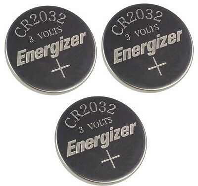 3 Piece Fresh ENERGIZER CR2032 WATCH BATTERIES 3V LITHIUM CR 2032 DL2032 BR2032