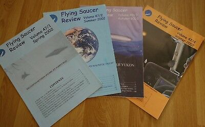 2002 4x FSR FLYING SAUCER REVIEW MAGAZINES - VOLUME 47 (No 1 to 4) - UFO