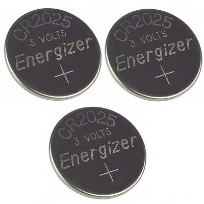 3 Pcs FRESH Genuine Energizer CR2025 ECR2025 3V Coin Button Battery Fast Ship