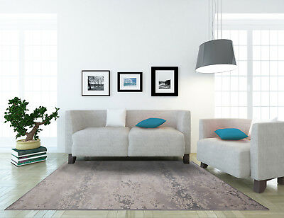 Nicole Miller Designer Area Rug Invory/Gray Contemporary Abstract Carpet