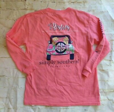 "NWOT Simply Southern ""Let's Be Besties"" Youth Sz. Medium Long Sleeve T-Shirt"