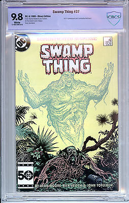 Swamp Thing #37 (DC, 1985) CBCS 9.8 WP 1st appearance John Constantine!