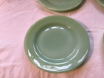 "One Jadite Restaurant Ware Fire-King 5 1/2"" plate.Multiple plates available."