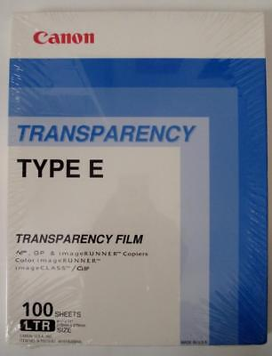 "Canon Transparency Film 100 Sheets Type E 8.5"" X 11"""