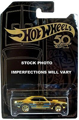 *IMPERFECT PACKAGE* Hot Wheels 50th Anniversary Black & Gold '67 Camaro CHASE!