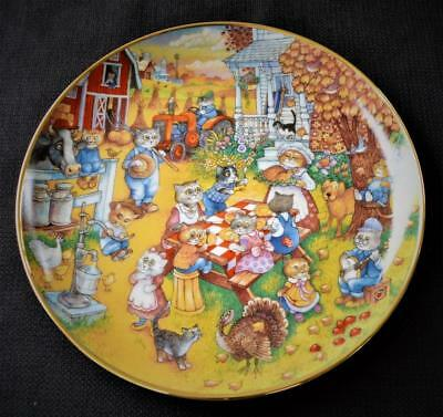 Franklin Mint A Purrfect Feast by Bill Bell ~ Limited Edition