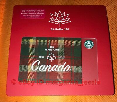 "STARBUCKS GIFT CARD ""CANADA 150TH"" Canadian Exclusive NO VALUE 2017 NEW LIMITED"
