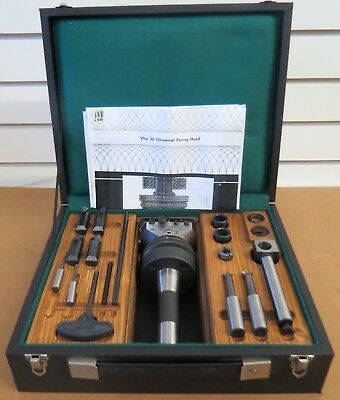 """Narex VHU-36 Universal Boring & Facing Head 2-7/8"""" w/Case  Accessories EXCELLENT"""