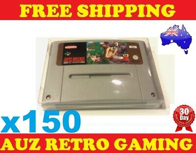 150x Thick GAME CART CARTRIDGE PROTECTORS Cases For SNES Super Nintendo Games