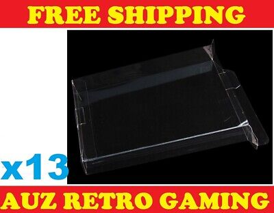 13x Thick GAME BOX PROTECTORS Cases For NES Original Nintendo BOXED Games