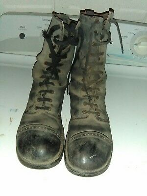 Corcoran ? Paratrooper Jump Boots WWII ? Korea ? Vintage 1940's Military US Army