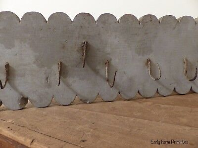 Early 19Th Century Wood Game/fowl Rack All Original Gray Paint