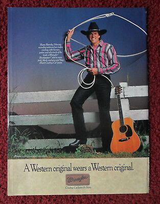 1990 Print Ad Wrangler Western Jeans Fashions ~ Shane Barmby Country Music RODEO