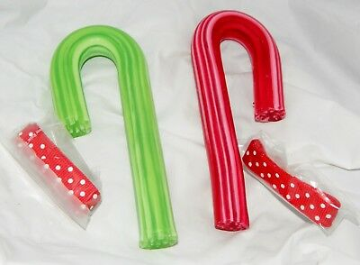 Avon Red And Green Candy Cane Soap And Ribbon In Gift Box