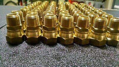 "Brass 1/2"" male NPT to 5/8 female flare swivel adaptor"
