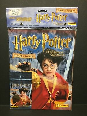 Harry Potter And The Chamber of Secrets Sticker Album by Panini w/ 10 Stickers