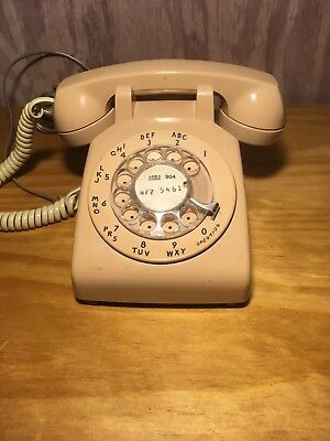 Vintage Southern Bell, Western Electric 500 C/D Beige Rotary Phone