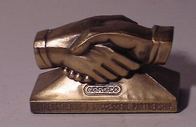 CONOCO OIL CO. Strengthening A Successful Partnership Advertising Paper Weight