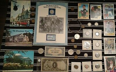 Junk Drawer Lot: Old U.S. Coins, 1870 Indian Cent, 1909 Wheat, SILVER JEWELRY ++