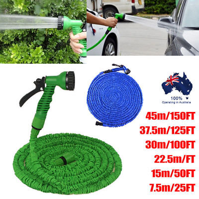 Flexible Expandable Expanding Garden & Lawn Water Hose with Spray Spray Nozzle