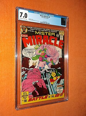 MISTER MIRACLE #8 CGC 7.0 {Jack Kirby story & partial cover/art} - Solid copy!!!