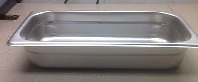 """(6) Third Size 2"""" Deep Stainless Steamtable Pans Food Pan Hot Table Steam Pan"""