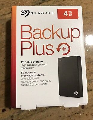Seagate Backup Plus 4TB Portable Hard Drive Brand New Sealed