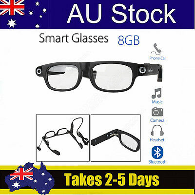 Bluetooth4.0 Wireless Smart Glasses 8GB Music Lamp Sleep Adult For iphone7/6s/5s