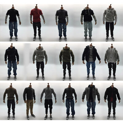 1/6 Scale Male Action Figure Dolls Outfits Casual Clothes and Canvas Shoes Set