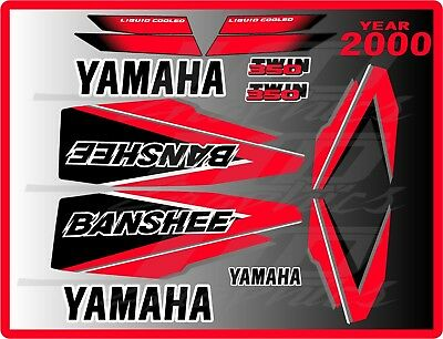 yamaha banshee full graphics decals kit 2000