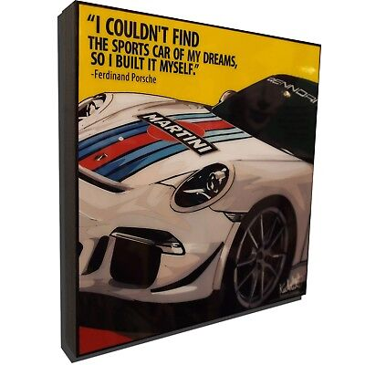 Porsche 991 Martini Art Poster Plaque Framed Canvas Painting Print