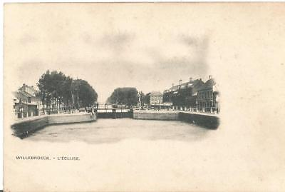 Oude postkaart Willebroeck - L'ecluse