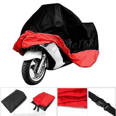 XXXL Red Motorcycle Cover Waterproof For Harley Davidson Street Glide Touring