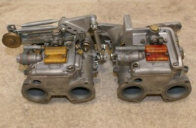 Rebuilt Dellorto DHLA 40 F twin carbs manifold for Ford Pinto and link *not Dcoe