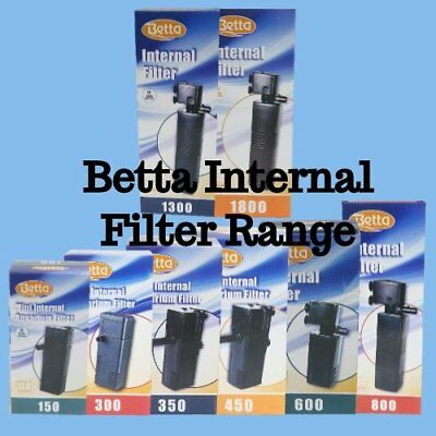 Betta Aquarium Fish Tank Internal Filter Aquariums 150L/H-1300L/H & Media