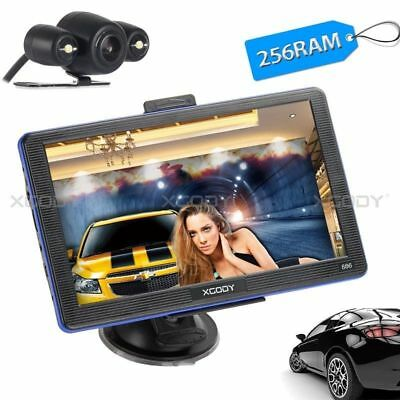 XGODY 7'' CAR Navigation GPS Navigator + Wire Rearview Camera 8GB Bluetooth Map