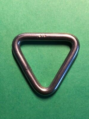 "Stainless Steel 316 Triangle Ring Welded 3//16/"" x 1 3//16/"" Marine 5mm x 30mm"