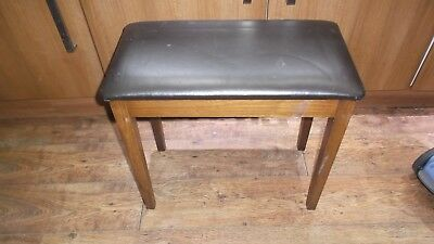 Brown Leatherette Lift Up Lid Piano Stool