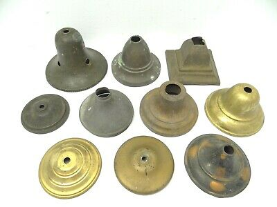 Mixed Antique Lot Old Victorian Dome Shaped Brass Copper Iron Metal